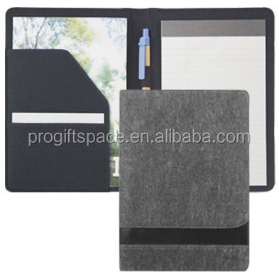 alibaba express best high quality durable new products custom fabric felt document folder made in china