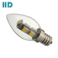 Facoty price 1W candle light super bright C7 e12 7smd 5050 led bulb for lotus buddha lamp