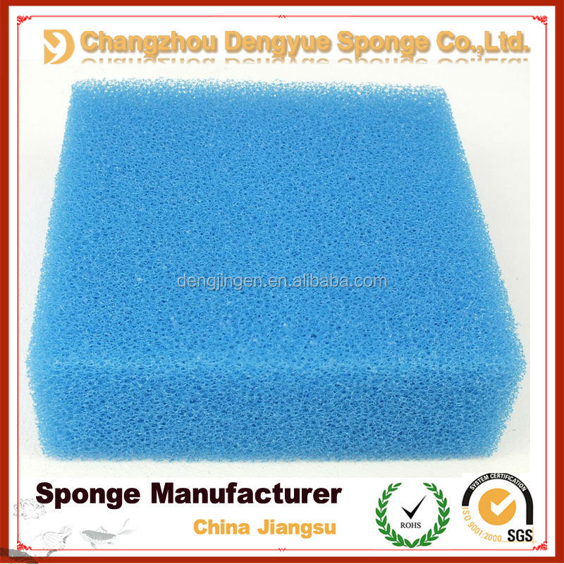 Blue color gutter rain aqua air compressor motorcycle filter sponge,open cell air filter foam