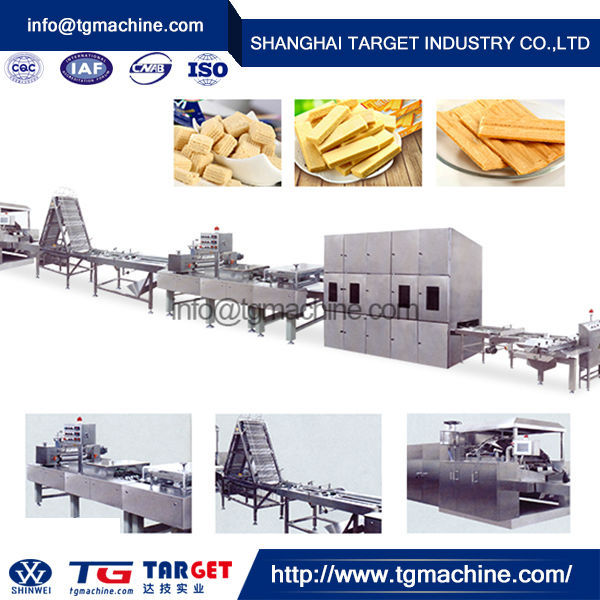 efficient wafer production line/rice wafer maker machine