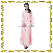 MF23563 elegant pink dubai caftan with damond