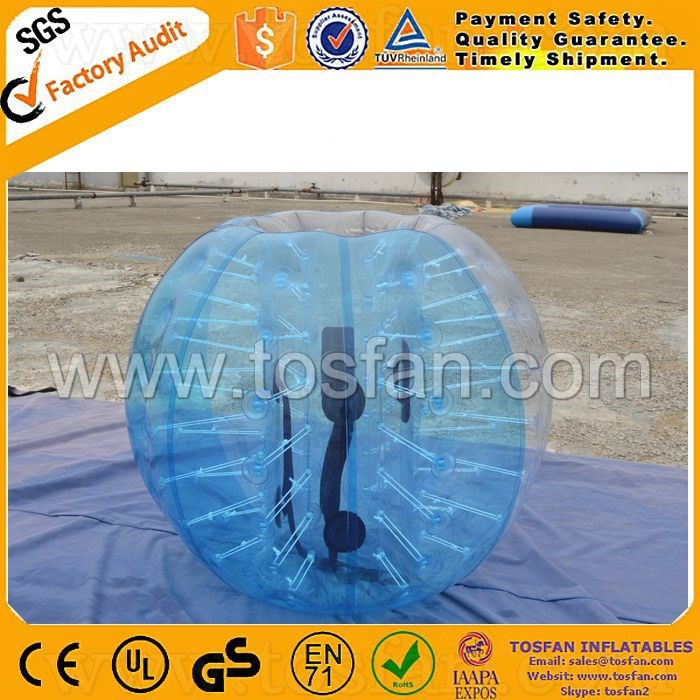 Inflatable toys half blue PVC bumper bubble ball TB109