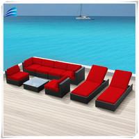Indoor/Outdoor Mordern Sectional Sofa Set,9PC,Living room and Garden Outdoor furniture