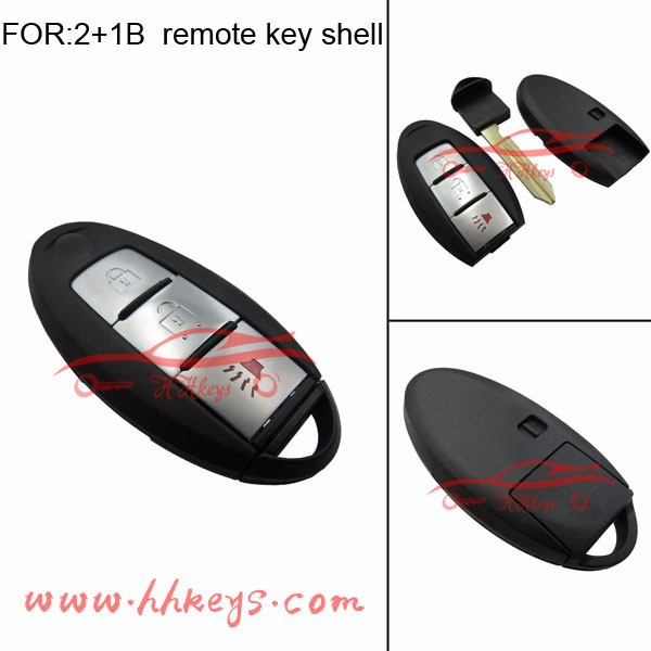 Best price 3 buttons smart remote key blank for Infiniti FX car key blank