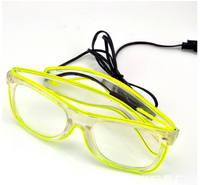 led glasses wholesale LED sunglasses shutter el glasses for Christmas Halloween ornaments gifts in Canada USA market