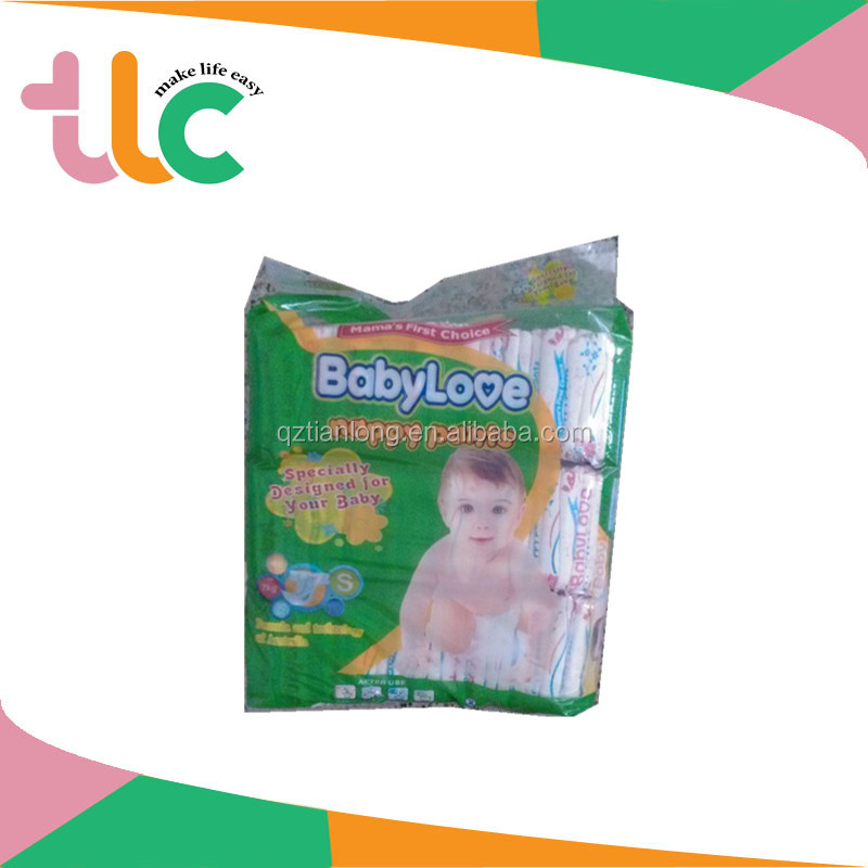 Made in China soft breathable sleepy baby diaper/nappies with PP tape