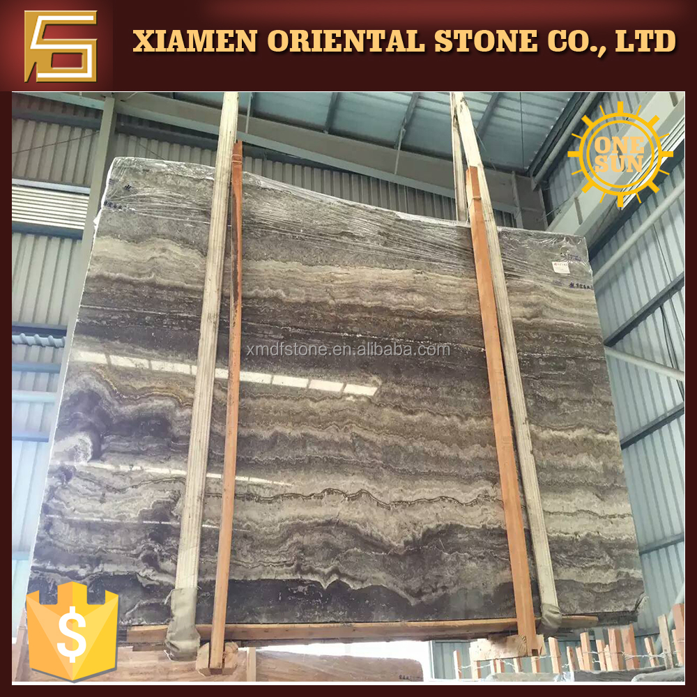 Highest Quality Polished Silver Grey Travertine Marble Tiles Floor Cheap Price