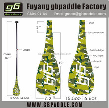 OEM Bamboo Carbon Racing SUP Paddle For Inflatable SUP Board