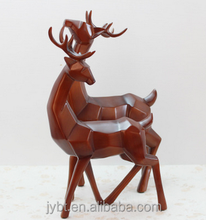 white glass deer head ornaments home decor
