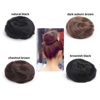 Fashion Women Straight Hairpiece Hair Bun Colorful