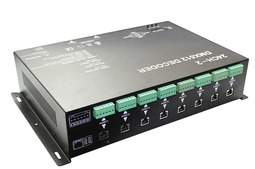 LED DMX decoder Constant current and dmx 512 controller for 24 channels