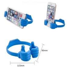 Universal Flexible Portable Mount Cradle Thumb OK Stand Holder For Mobile Phones And Tablets