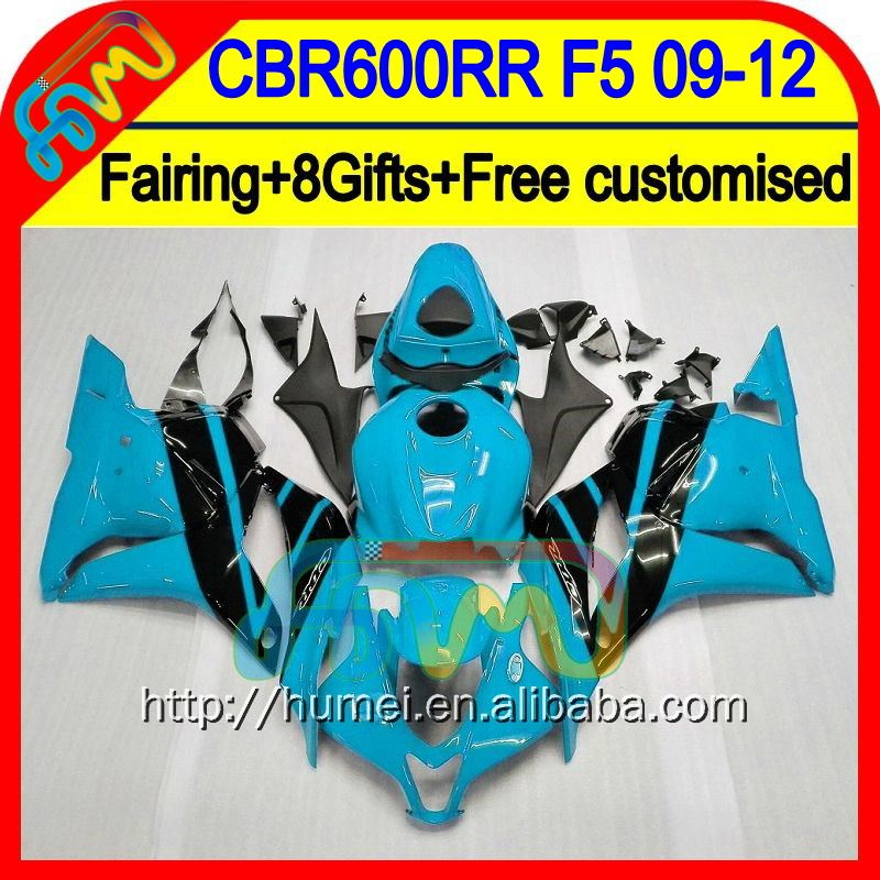 Cyan black 8Gifts For HONDA CBR 600RR 600 RR 2009 2010 2011 2012 27HM61 CBR600 RR F5 CBR600RR 09 10 11 12 Injection Fairing F5