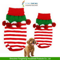 Pet Dog Christmas Sweater Puppy Cat Striped Knit Clothes Winter Jumper Apparel