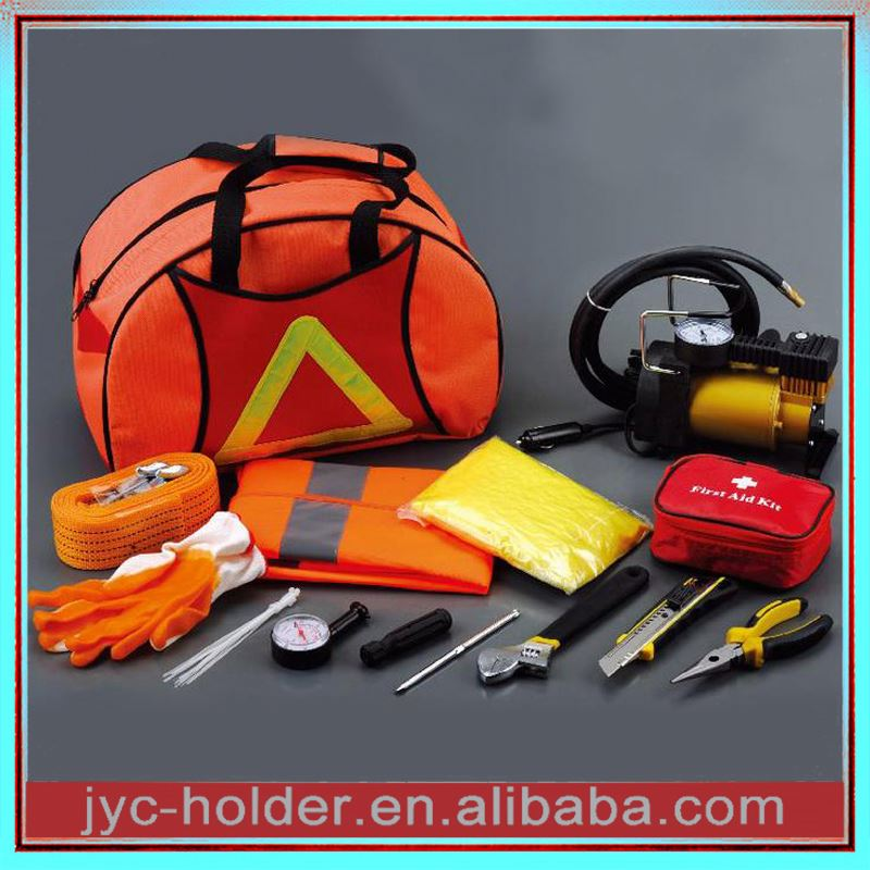 Car emergency tool kit with air compressor ,H0T2d car emergency kits