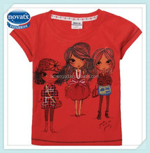 ( K4011 ) 3-8Y China factory guangzhou wholesale tshirts hot sale child clothing export short sleeve baby nova girls tshirts