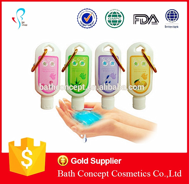 FDA approve 10-500ml hand sanitizer with free design multiple color fruit scent for wholesale