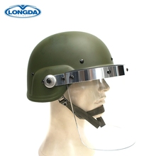 Professional Riot Control Equipment Police Universal Helmet With Visor