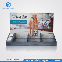POS Store Cardboard Shop Counter Design Display Stand For GPS Pet Chacking