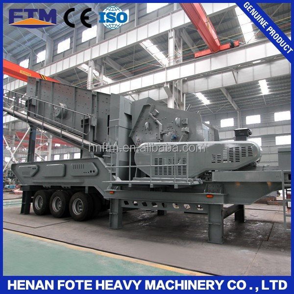 Mineral & Quarry Equipments Ship Steel Structure Mobile Crusher