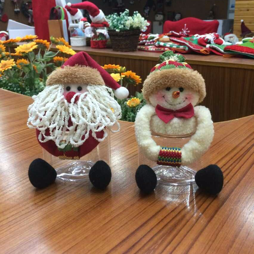 5.5 inches Christmas Cookie Jar_Good quality Christmas Cookie Candy Jar Box Decoration
