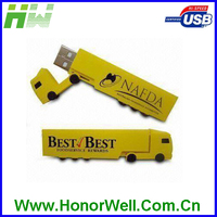 OEM Truck Shape Usb Flash Drive Plastic Usb Stick with Customized Logo