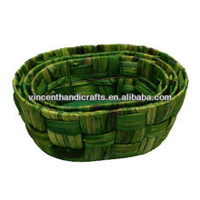 Rustic natural water hyacinth weaving flower baskets flower boxes