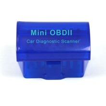 Blue High Quality OBD II Elm 327 Bluetooth Super Mini OBD2 Auto Scanner & Code Reader Elm327