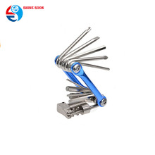 Portable Bicycle Repair Multitool Kit with Hex Keys/Flat Head/Philips Screwdriver/Torx T-25 All in One Multifunction Bike Tools