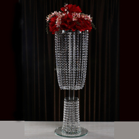 Factory Price Hot Sale Crystal Flower Stand For Wedding Table Centerpieces Decoration