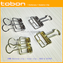 Neueste design skeleton clips spezielle form binder clips