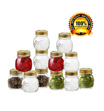Gift Boxed 8.5 oz Glass Decorative Mason Jar Set for Canning Spice