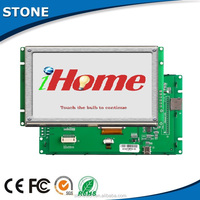 intelligent 4.3 inch resistive serial 480*272 open frame tft lcd with UART/ RS232/RS485/TTL port