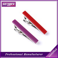 fashion hot simple red baking finish blank tie clips cheap tie bars clip on tie