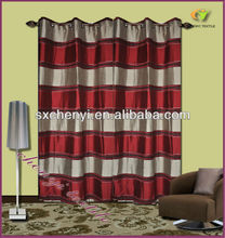 stripe polyester and chenille jacquard curtain hot sale in the world
