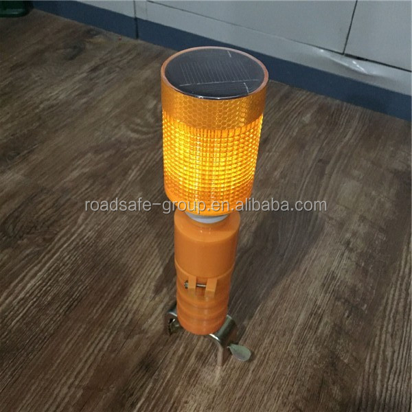 Led road construction solar warning light/yellow flasher light