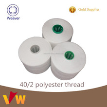 Poly/poly Polyester Sewing Thread 40/2 for weaving
