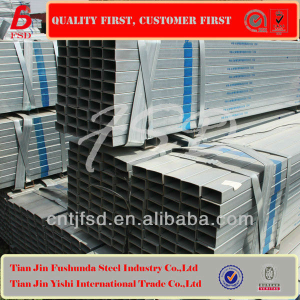 china price GB/T3094 JIS G3466 EN10210 GB/T6728 BS Hot Dipped Galvanized Square Gi Pipe for hot sale