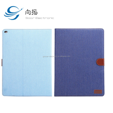 Newest Jeans Pattern Leather Case For iPad 5 Hard PC Book Flip Tablet Case Shockproof Case For Tablet PC