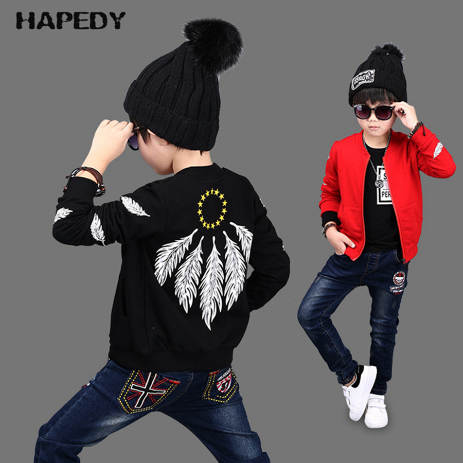 New Style High Quality Feather Printed Kids Fancy Stylish Boys Jacket