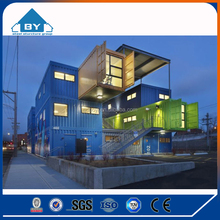 Luxury 20ft Steel frame Container prefabricated Houses steel and modern glass houses(BY-W1288x)