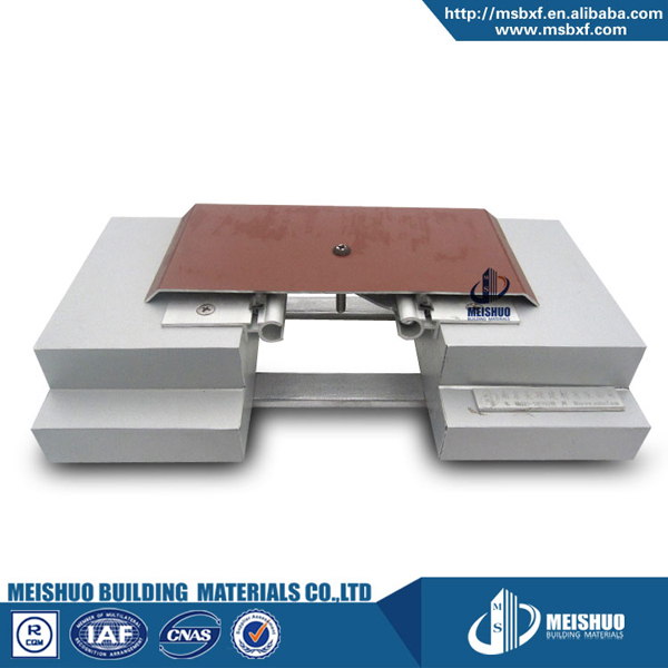 Tile wall sprayed aluminum cover plate system expansion joint installation
