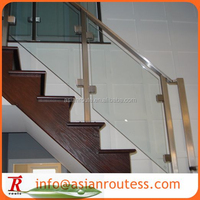 portable indoor glass stair rail design new/glass stair railing cost