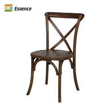 Excellent Quality Solid Wood Cross Back Chair For Restaurant