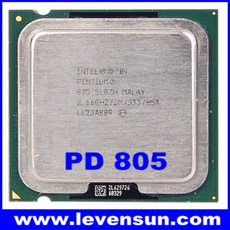 Used pull clean intel pentium D PD-805 2.66GHz 2*1M,533MHz,775pin,90nm dual core cpu processor
