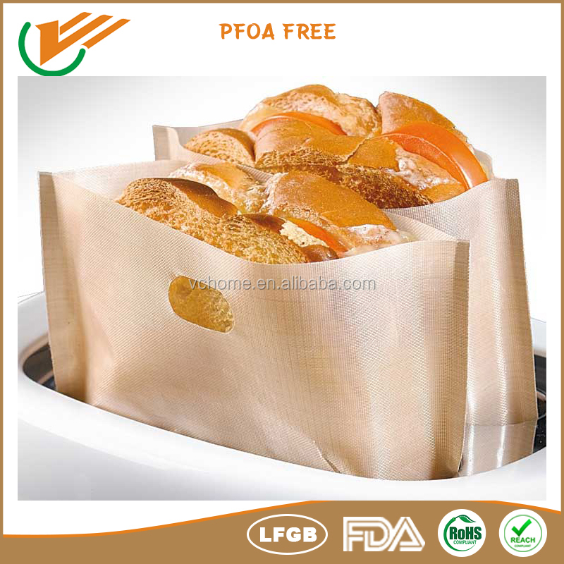 Free samples 2015 Best selling 100% non stick Toaster Oven Parts PTFE toaster bag