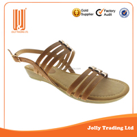 High quality shoes factory china soft 2016 summer leather sandal shoes for women