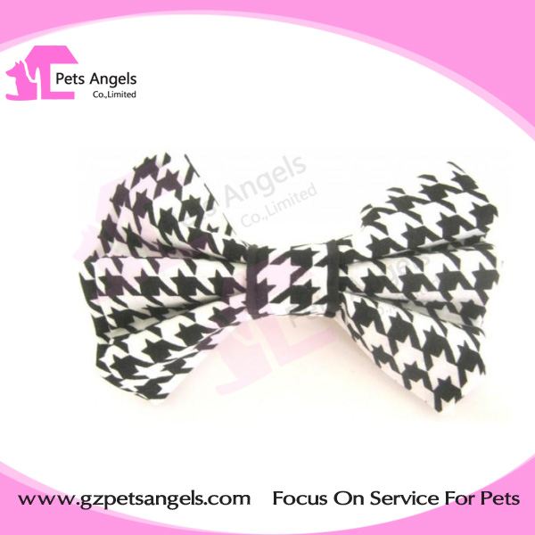 Wholesale pet dog collar bow tie diy logo woven logo patterns for puppy large dogs