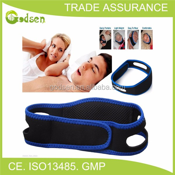 2017 hot selling sleep aid cheap Anti snore chin strap, neoperene snore stop strap