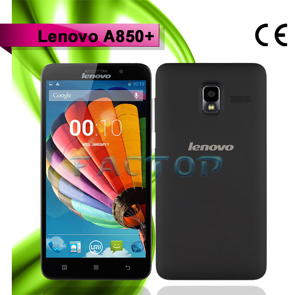 smartphone ram 1gb rom 4gb retail online shopping from china lenovo a850+ dual sim card dual standby android 4.2 with CE
